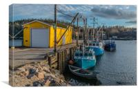 End of day in Northwest Cove, Nova Scotia, Canvas Print