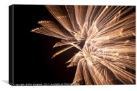 Firework long exposure, Canvas Print