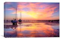 Southend Sunset 5, Canvas Print
