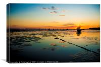 Southend Sunset 7, Canvas Print