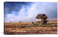 Burning stubble in Laos, Canvas Print