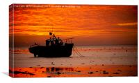 Southend Sunset 8, Canvas Print