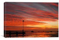 Thorpe Bay Sunrise, Canvas Print