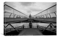 St Pauls & Millennium Bridge, Canvas Print