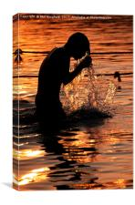 Water Puja, Canvas Print