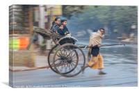 Hand Pulled Rickshaw - Kolkata, Canvas Print