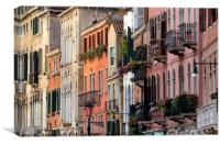 The elegant and refined architecture of Venice, Canvas Print