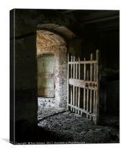 Abandoned Farmhouse, Tuscany, Canvas Print