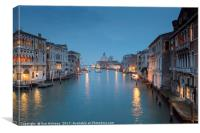 Twilight View from the Accademia Bridge, Canvas Print