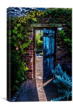 Behind the Blue Door, Canvas Print