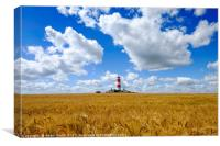 Happisburgh Lighthouse, Norfolk, Canvas Print