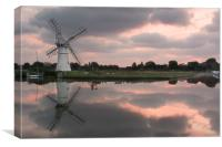 Thurne Windpump Reflection, Canvas Print