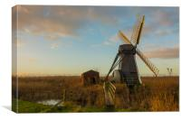 Herringfleet  Windmill & Out House, Canvas Print