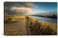 Walberswick and Southwolds Harbour long exposure, Canvas Print