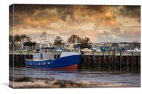 Walberswick and Southwolds Harbour at Sunrise, Canvas Print