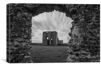 Baconsthorpe Castle Ruins in Mono, Canvas Print