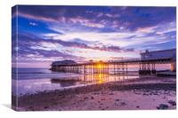 Cromer pier with sunrise starburst, Canvas Print