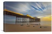 Cromer pier at Golden hour, Canvas Print