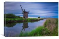 Brograve Windmill Long Exposure, Canvas Print