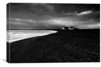 Shingle Street Monochrome, Canvas Print