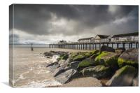Southwold Pier storm clouds, Canvas Print
