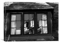 window reflections, Canvas Print