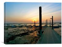 Sunsetting over the Jetty, Canvas Print
