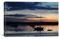 Dusk Over the Estuary, Canvas Print