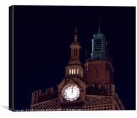 Two Clocks, Canvas Print