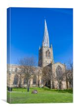 Crooked Spire - Chesterfield, Canvas Print