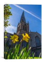 The Crooked Spire in Spring, Canvas Print