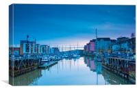 Portishead Marina  The Old Lock Gates, Canvas Print