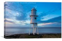 Black Nore Lighthouse at Sunset, Canvas Print
