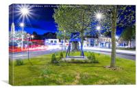 Battery Point Bell, Portishead with Light Trails, Canvas Print