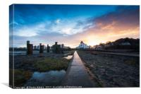 Portishead Pier Sunset, Canvas Print