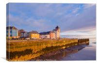 Beautiful sunrise over Portishead seafront, Canvas Print