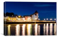 Portishead Seafront by Night, Canvas Print