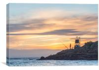 Fisherman at Battery Point, Canvas Print