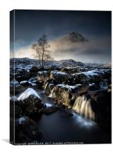 Buachaille and Falls, Canvas Print
