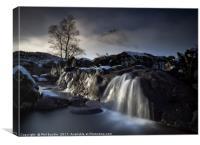 Buachaille  Waterfall Glencoe, Canvas Print