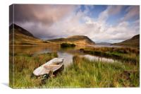 Nether How Boat, Crummock Water, Canvas Print