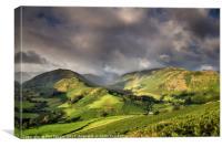 Boredale Valley Rainbow, Canvas Print