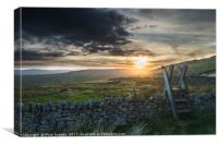 Sunset and Stile, Canvas Print