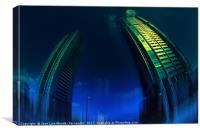 city monsters, Canvas Print