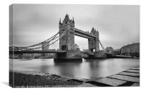 Tower Bridge Noir , Canvas Print