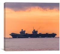 HMS Queen Elizabeth , Canvas Print