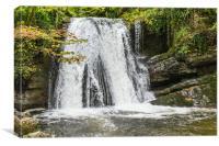 Janet's Foss waterfall, Canvas Print