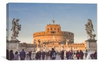 Castel Sant'Angelo Rome, Italy., Canvas Print