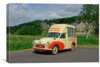1957 Morris Minor Ice Cream Van, Canvas Print