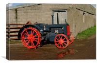 Case vintage tractor, Canvas Print